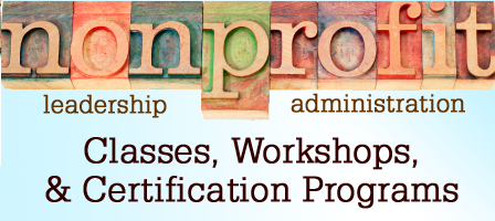 Nonprofit Classes & Nonprofit Certification