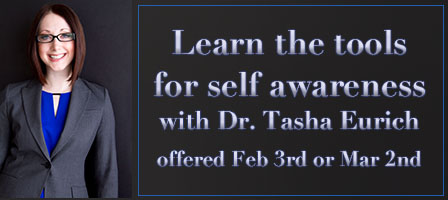 Dr. Tasha Eurich Returns to CFU!  Self-Awareness Workshop