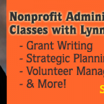 Fall Nonprofit Administration Classes with Lynn O'Connell Just Around the Corner!