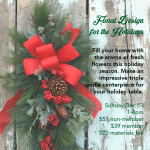 Floral Design for the Holidays: Create your own centerpiece