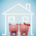 Piggy bank husband and wife - home concept